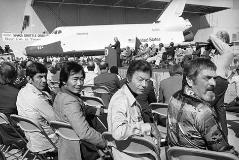 Nimoy at the Enterprise Launch