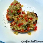 Wishing For Spring Bruschetta with Tomatoes, Sweet Onion and Cucumber