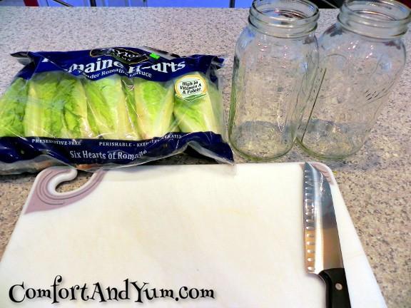 Packing Lettuce Step 1