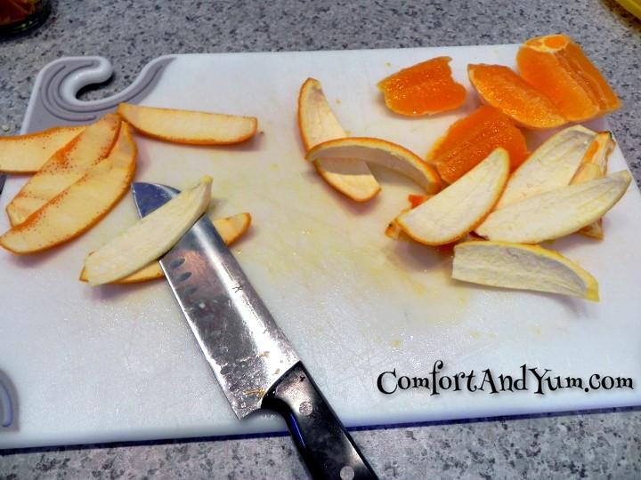 Slice Orange Rinds