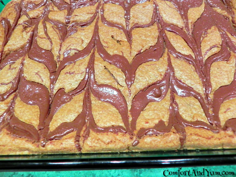 Baked Nutella Blondies