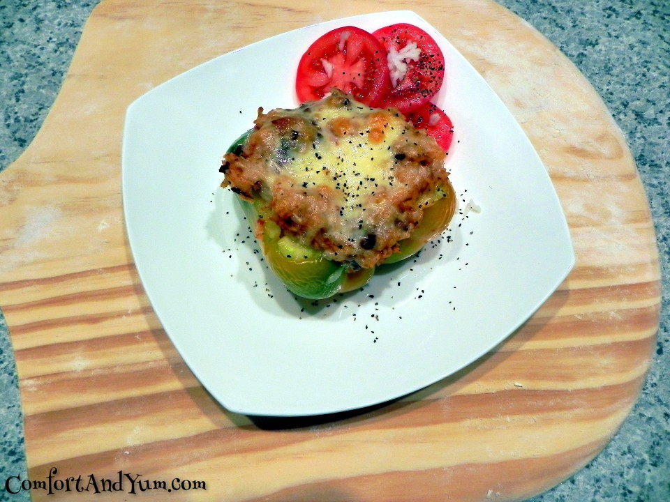 Stuffed Green Peppers - Dinner is Served!