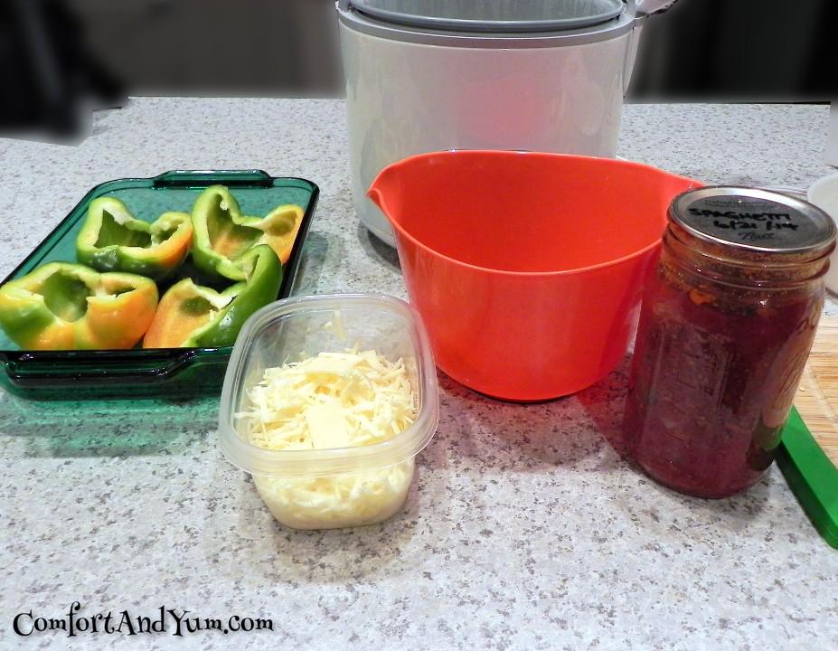 Stuffed Green Pepper Ingredients