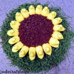 Easter Sunflower Peeps Cake