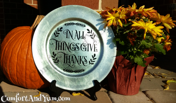 Give Thanks Thanksgiving Plate