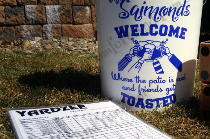 YARDZEE Decal Set & Laminated Scorecards